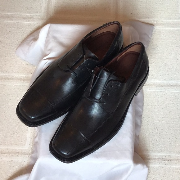Johnston /& Murphy Men/'s Dobson Cap Toe Lace Up Oxfords Black